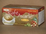 Cafe Avarle All-in-One Healthy Coffee with Ganoderma and Cordyceps - Creamer, Sugar and Xylitol 20 pks