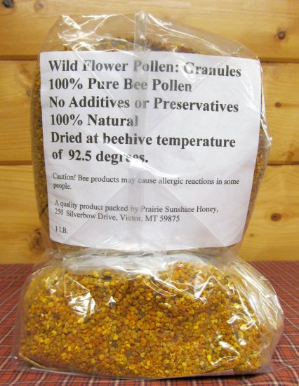 Wildflower Bee Pollen Granules (1 Pound) From Montana USA! - Click Image to Close