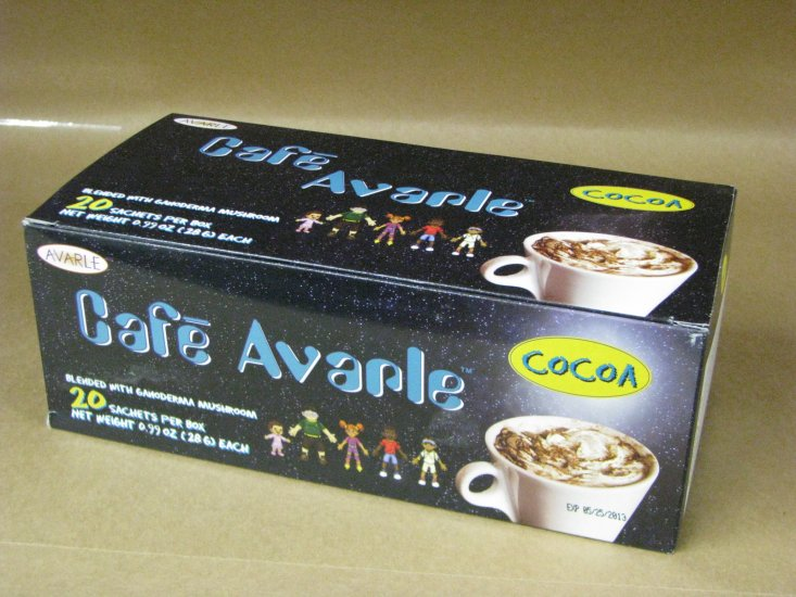 Cafe Avarle Healthy Cocoa with Ganoderma 20 pks - Click Image to Close